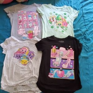 4 Shopkins Girls t-shirts